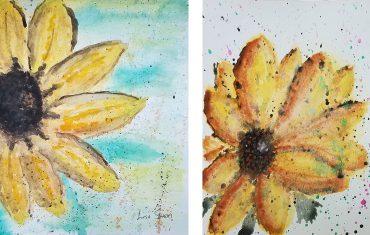 Sunflower Watercolors Lisa Shea