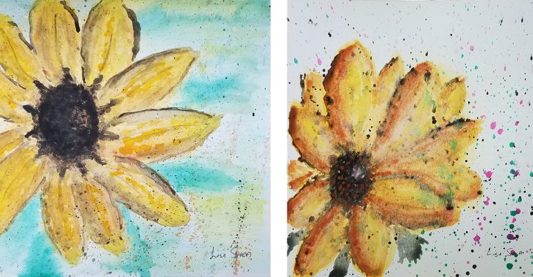 Sunflower Watercolors Lisa Shea