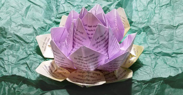Origami Lotus Blossom Flower