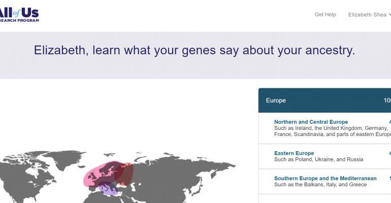 AllOfUs DNA Ancestry