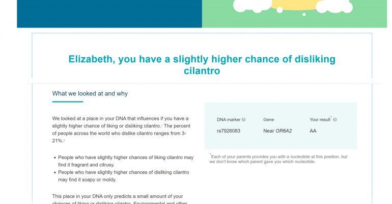 Cilantro DNA Preference