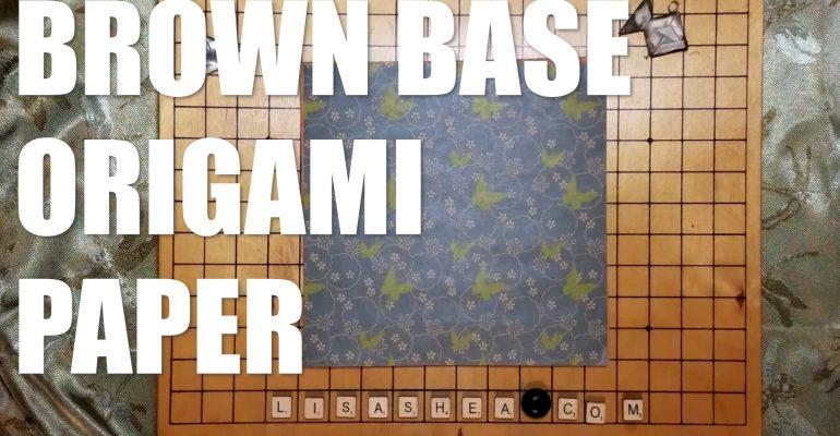 Origami Brown Washi Chiyogami Paper ASMR