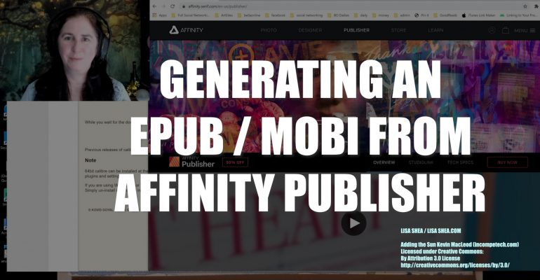 Generating an EPUB / MOBI from Affinity Publisher