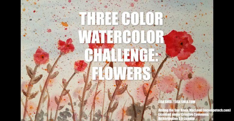 3-Color Challenge - Crimson Flowers