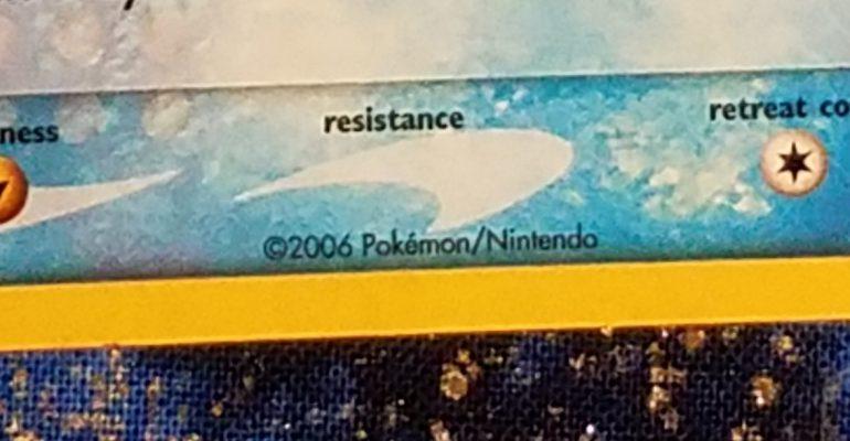 Version Image Code on Pokemon Trading Cards