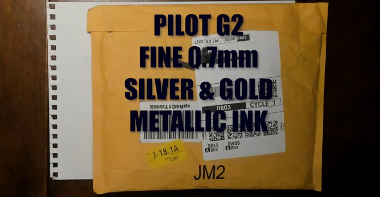 Pilot Gold and Silver Ink Gel Ballpoint Pens G2 Fine Point 0.7mm