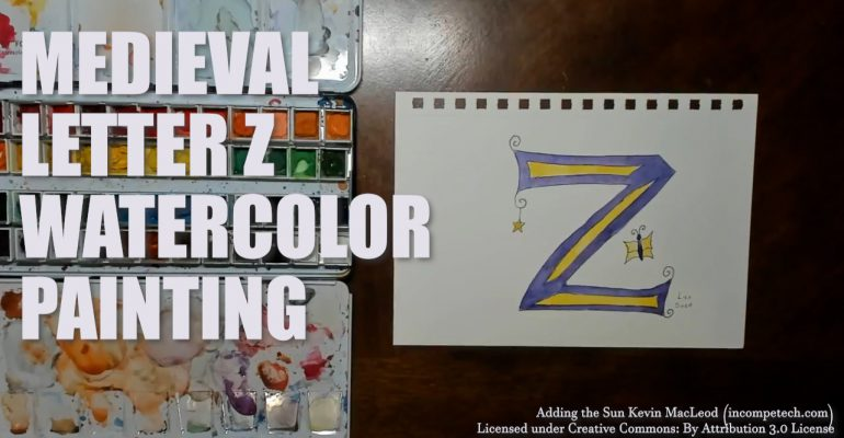 Letter Z Illustrated Watercolor