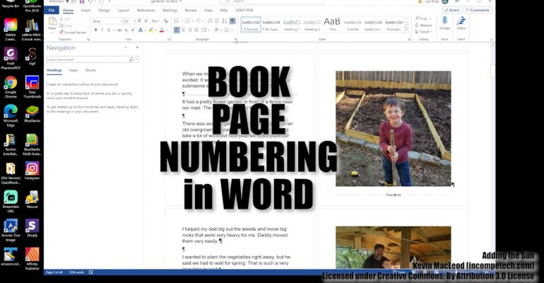 How to Create Book Page Numbers and Sections in Word