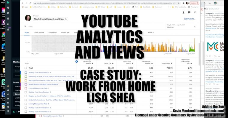 YouTube Analytics and Views Case Study - Work From Home Lisa Shea