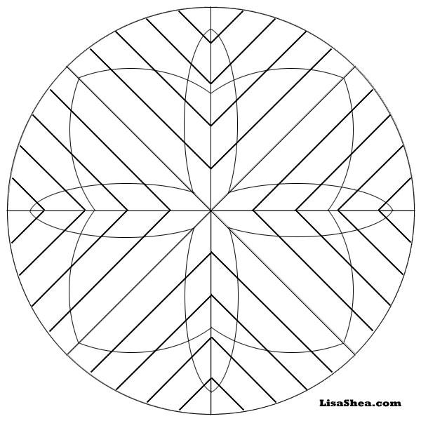 Grids Printable Mandala
