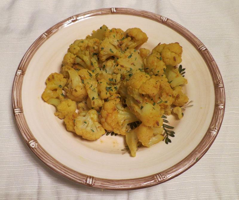 Indian Style Cauliflower Microwave Recipe