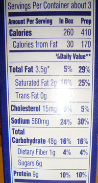 Mac Cheese Low Carb Label