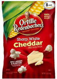 Orville Sharp White Cheddar Popcorn Low Carb