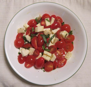 Tomato Mozzarella Basil Salad Recipe