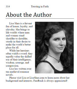 About The Author Page Layout