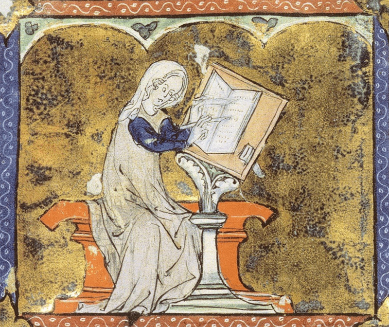 Image result for woman writing medieval""
