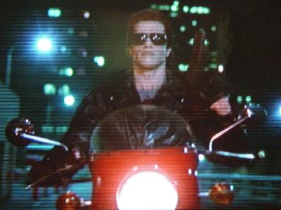 Motorcycles in Terminator - Arnold Schwarzenegger