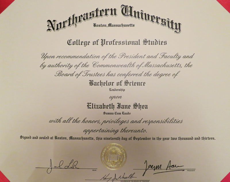 northeastern cps diploma